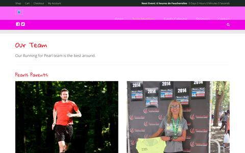 Screenshot of Team Page runningforpearl.com - Our Team   Running For Pearl - captured May 24, 2016