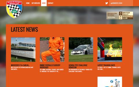 Screenshot of Press Page marshals.co.uk - News – BMMC - captured Feb. 8, 2016