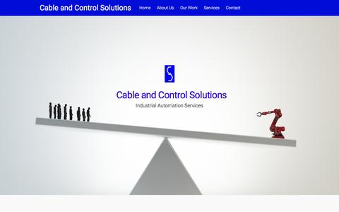 Screenshot of Home Page cacsllc.com - Cable and Control Solutions – Industrial Automation Services - captured Jan. 24, 2016