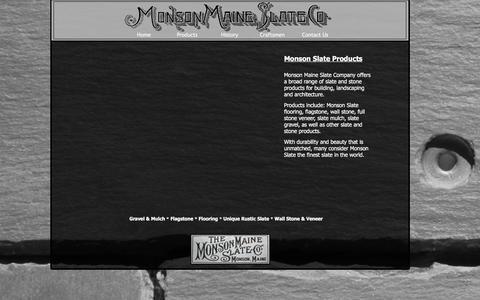 Screenshot of Products Page monsonslate.com - Maine Stone, Maine Slate, Maine Landscaping Stone - captured Dec. 11, 2016