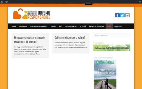 Screenshot of Blog aitr.org - Blog – AITR Associazione Italiana Turismo Responsabile - captured July 28, 2018