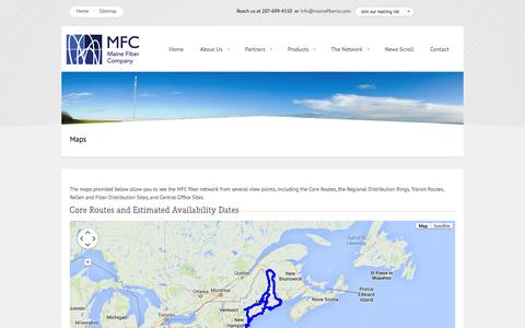Screenshot of Maps & Directions Page mainefiberco.com - Maine Fiber Company :: Maps - captured Oct. 4, 2014