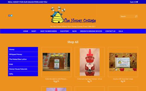 Screenshot of Products Page thehoneycottage.com - Products | The Honey Cottage - captured July 13, 2018