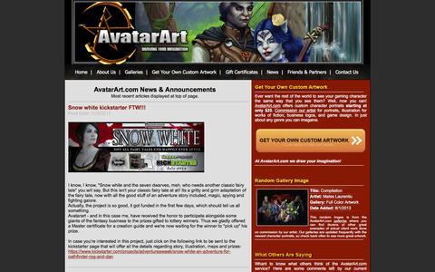 Screenshot of Press Page avatarart.com - AvatarArt.com Role Playing Game Character Art Portraits Fantasy - captured June 9, 2016