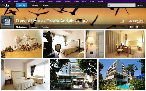 Screenshot of Flickr Page flickr.com - Flickr: Bianchi Hotels - Riviera Adriatica - Italy's Photostream - captured Oct. 23, 2014