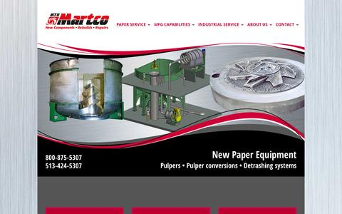 Screenshot of Home Page mtrmartco.com - MTR Martco | Paper Services and Industrial Services - captured Sept. 12, 2015