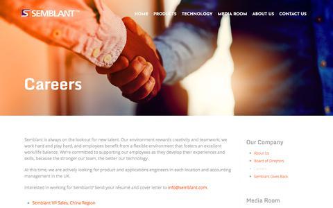 Screenshot of Jobs Page semblant.com - Careers - Semblant : Semblant - captured Sept. 21, 2018