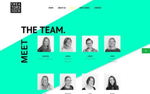 Screenshot of Team Page creatorsdock.com - Team - Creatorsdock - captured Sept. 30, 2018