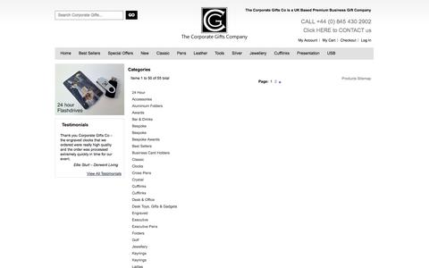 Screenshot of Site Map Page corporate-gifts-co.com - The Corporate Gifts Company - captured Sept. 19, 2014