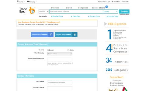 Screenshot of Products Page tradebanq.com - B2B Products Directory | Wholesale Items | Global Trade Leads - captured Sept. 23, 2014