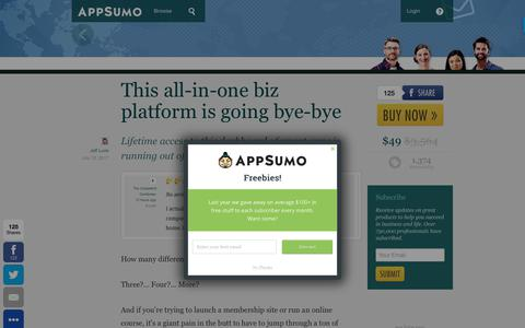 Screenshot of appsumo.com - This all-in-one biz platform is going bye-bye - captured July 13, 2017