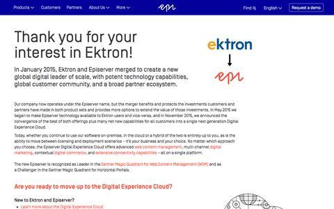 Episerver and Ektron Merge Information