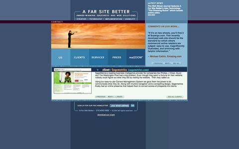 Screenshot of Home Page afarsitebetter.com - A Far Site Better, award winning Internet development,  e-commerce, web design, consulting-A Far Site Better - captured Oct. 10, 2014