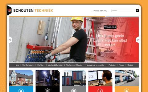 Screenshot of Home Page schoutentechniek.nl - Home   Schouten Techniek - captured Oct. 2, 2018