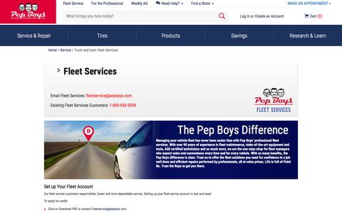Fleet Maintenance & Service | Auto & Truck Fleet Repair | Pep Boys