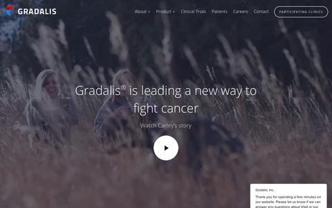 Screenshot of Home Page gradalisinc.com - Gradalis, Inc. says… - captured Oct. 19, 2018