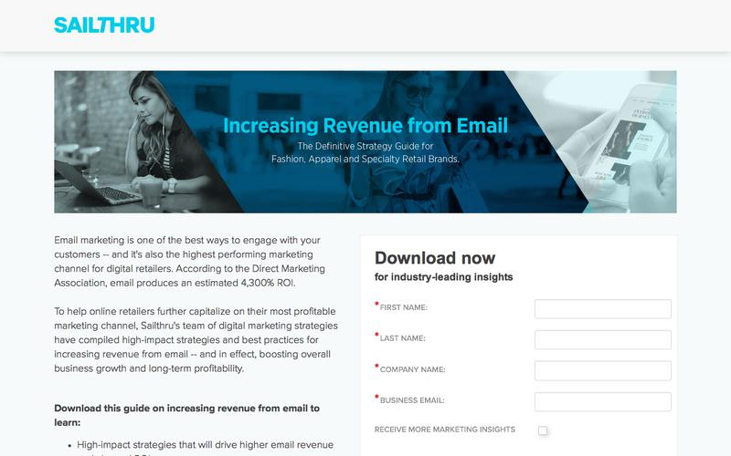 Increasing Revenue from Email for Retailers   Sailthru