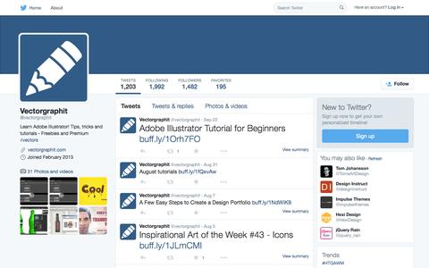 Screenshot of Twitter Page twitter.com - Vectorgraphit (@vectorgraphit) | Twitter - captured Oct. 1, 2015