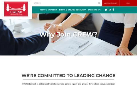 Screenshot of Signup Page crewcincinnati.org - CREW Greater Cincinnati - Why Join? - captured June 29, 2018