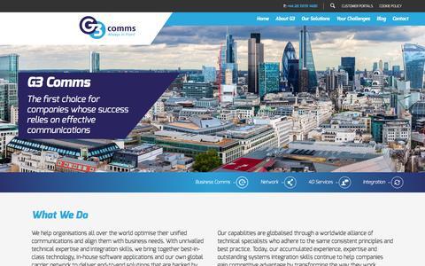Screenshot of Home Page g3comms.com - Home - G3 Comms : G3 Comms - captured Feb. 6, 2016