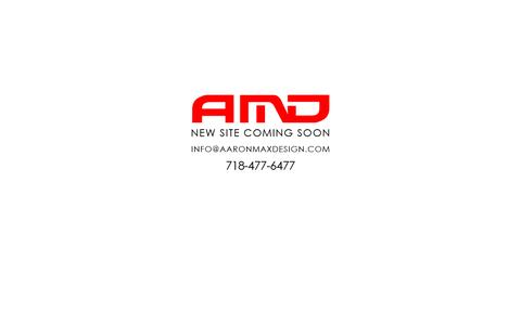 Screenshot of Home Page aaronmaxdesign.com - Aaron Max Design - Web Design - Printing - Hosting - captured Dec. 23, 2015