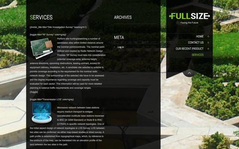 Screenshot of Services Page urqbi.net - Services   PT. Quabi Solago - captured Jan. 23, 2016