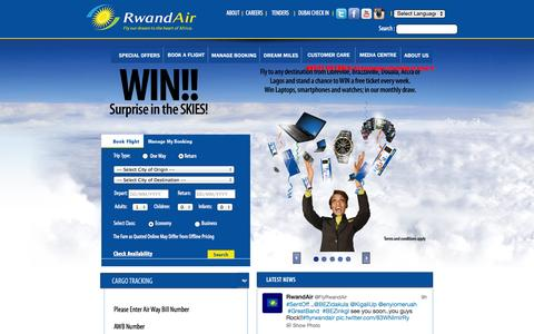 Screenshot of Contact Page rwandair.com - RwandAir - RwandAir - captured Sept. 24, 2014