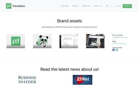 Screenshot of Press Page pandadoc.com - Press - captured July 19, 2014