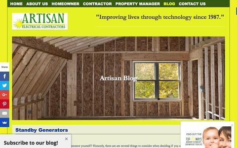 Screenshot of Blog artisanelectric.com - Artisan Blog - Artisan Electric - captured Feb. 6, 2016