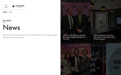 Screenshot of Press Page mccannmanchester.com - News    McCann Manchester - captured Nov. 27, 2019