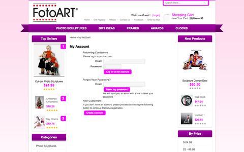 Screenshot of Login Page fotoart.com captured Sept. 30, 2014