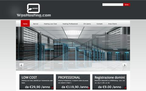 Screenshot of Home Page wpshosting.com - Soluzioni Hosting Low Cost e Professional con dominio GRATIS - captured Jan. 23, 2015