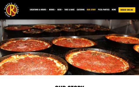 Screenshot of About Page rancespizza.com - Our Story | Rance's Chicago Pizza - captured Oct. 20, 2018