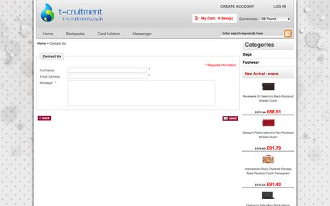 Screenshot of Contact Page temtecrecruitment.co.uk - Contact Us :  Lowest Price Bags and Footwear outlet - Boat shoes,Chelsea boots,Desert boots,Moccasins UK Online - captured Dec. 14, 2016