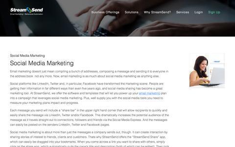 Social Media Marketing   Social Media Tools   Sharing   StreamSend