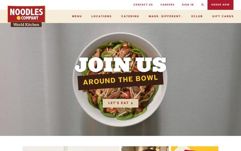 Screenshot of Home Page noodles.com - Noodles & Company - Noodles, Pasta, Salads & More - captured Jan. 5, 2016