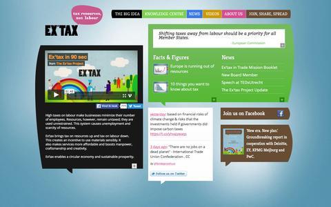 Screenshot of Home Page ex-tax.com - Ex'tax :: Home - captured April 14, 2016