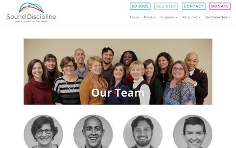 Screenshot of Team Page sounddiscipline.org - Our Team - Sound Discipline - captured Nov. 18, 2018