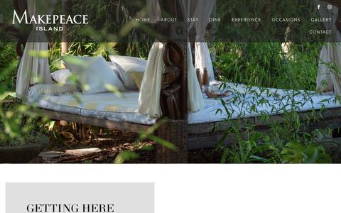 Screenshot of Contact Page makepeaceisland.com - Contact - Makepeace Private Island - Noosa Sunshine Coast - captured Dec. 8, 2018