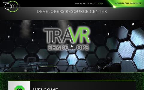 Screenshot of Developers Page virtuix.com - Developers Resource Center   Virtuix Omni - captured June 22, 2017