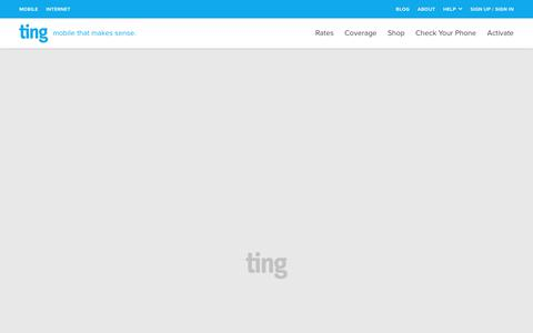 Screenshot of Terms Page ting.com - Ting is a smarter way to do mobile. Check Your Savings. - captured June 27, 2018