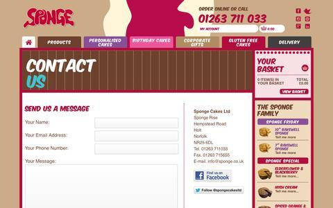 Screenshot of Contact Page sponge.co.uk - Sponge   Contact Us - captured Oct. 9, 2014