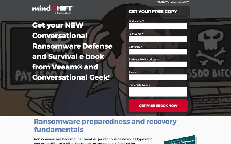 Get your NEW Conversational Ransomware Defense and Survival e book from Veeam® and Conversational Geek!