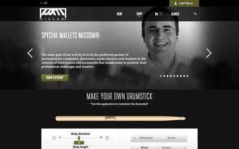 Screenshot of Home Page missom.com - Missom - Home - captured Sept. 30, 2014