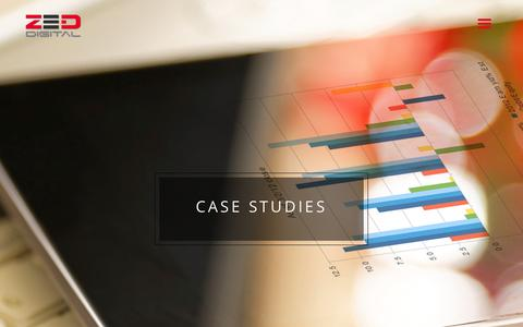 Screenshot of Case Studies Page completewebsitesolution.com - Case Studies - Zed DigitalZed Digital - captured July 3, 2015