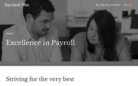Screenshot of About Page paycheckplus.ie - Payroll Outsource | About Paycheck Plus│Payroll Services - captured July 16, 2018