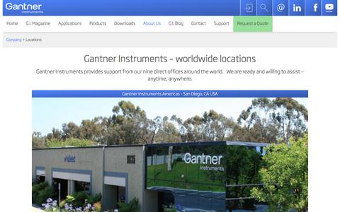 Screenshot of Locations Page gantner-instruments.com - Locations | Gantner Instruments - captured Oct. 25, 2016