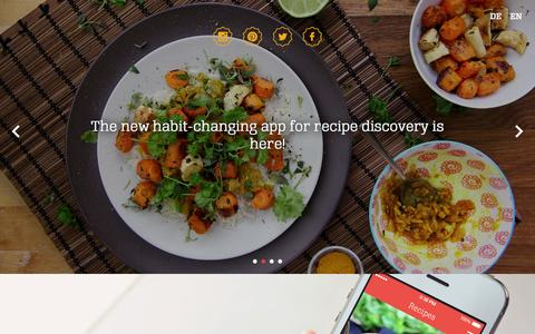 Screenshot of Home Page kptncook.com - KptnCook - Become your own chef - captured Sept. 30, 2014