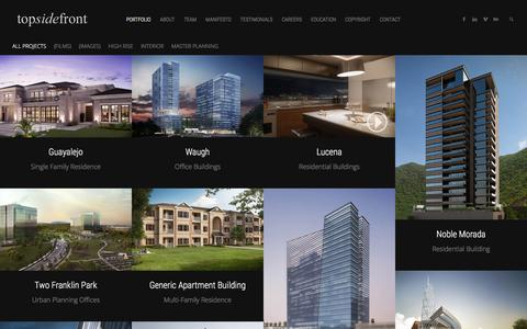 Screenshot of Home Page topsidefront.com - topsidefront   Architectural Visualization - captured Feb. 23, 2016