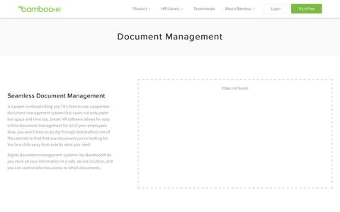 Document Management System for HR   Paperless Storage   BambooHR